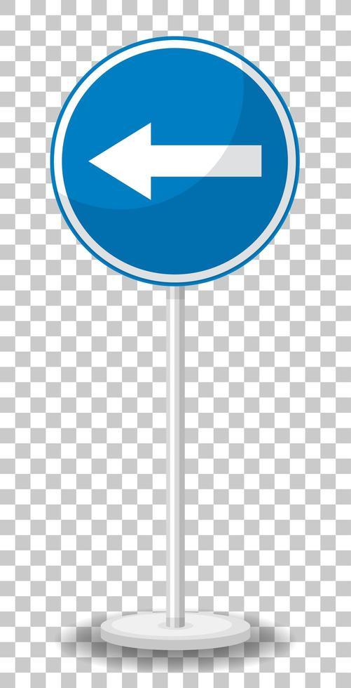 blå trafikskylt på transparent bakgrund vektor