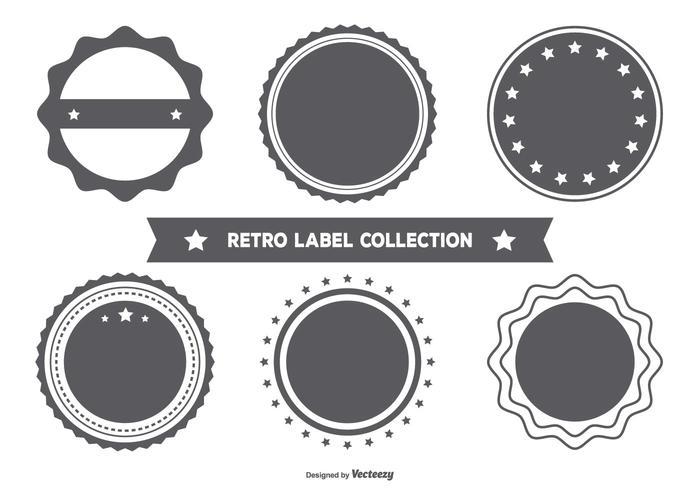 Blank Retro Style Badge Collection vektor