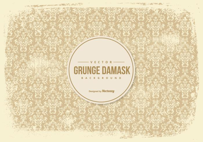 Gamla Grunge Damask Bakgrund vektor