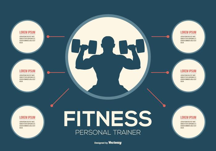 Personal Fitness Trainer Infographic vektor