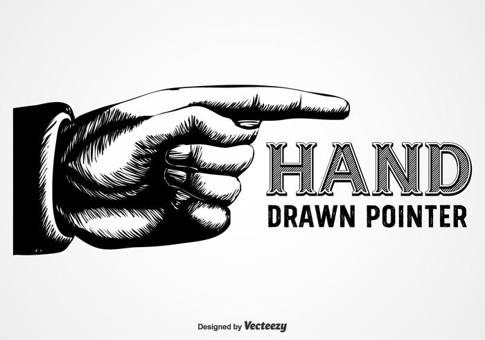 Pekande finger i Vintage Gravure Style vektor