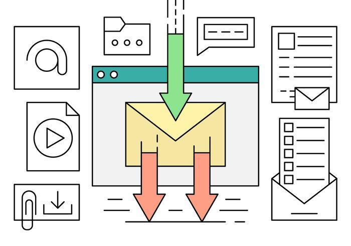 Lineares E-Mail-Marketing vektor