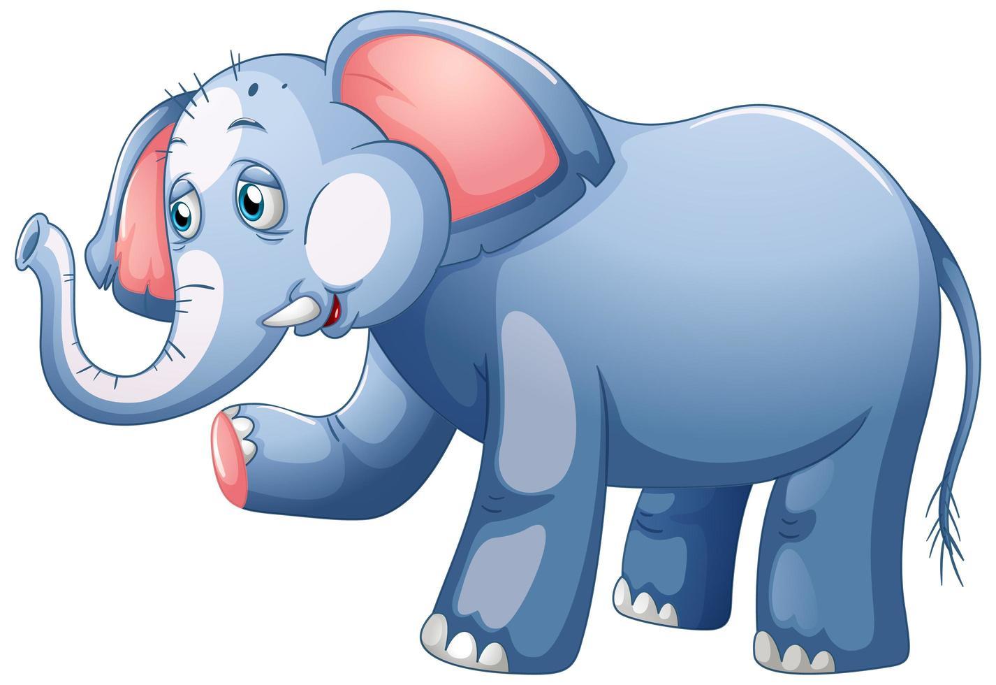 ein Elefant auf weißem Hintergrund vektor