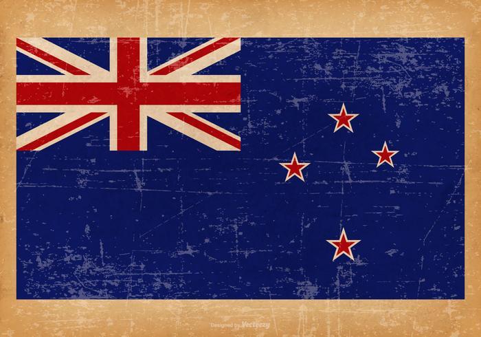 Grunge flagga av Nya Zeeland vektor