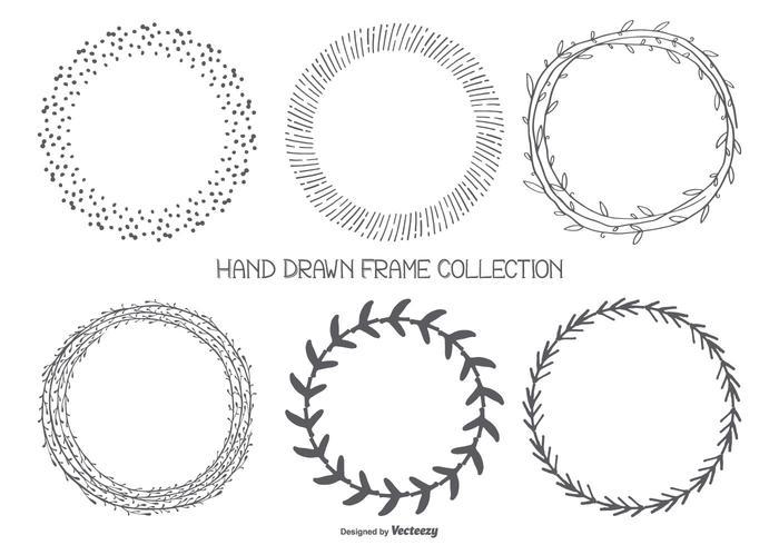 Söt Hand Drawn Frames Collection vektor