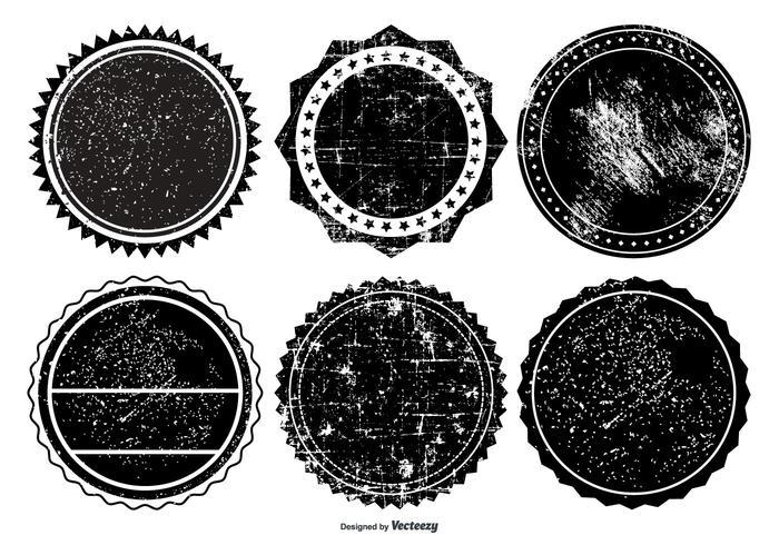 Grunge märkesamling vektor