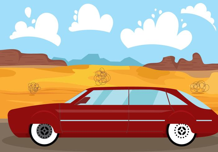Vintage station wagon illustration vektor