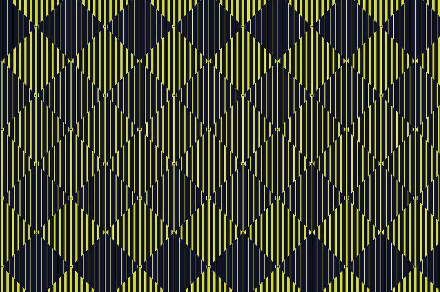 Halbtonmuster der gelben und schwarzen Diamantlinie vektor