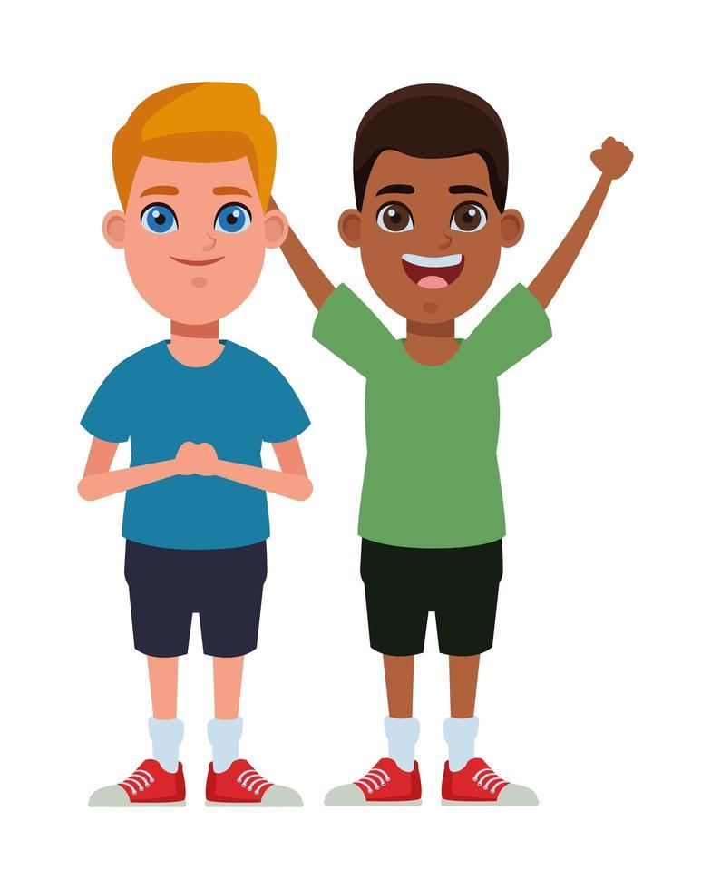 Kinder Zeichentrickfiguren vektor