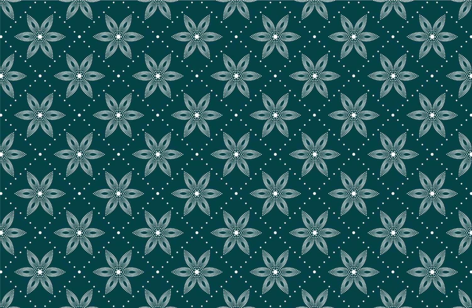 nahtloses Muster mit gepunkteten weißen Blüten vektor