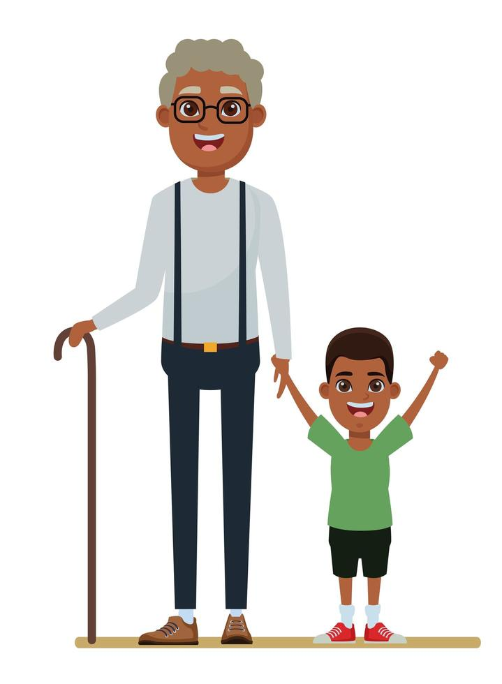 Familien-Comicfiguren zusammen vektor