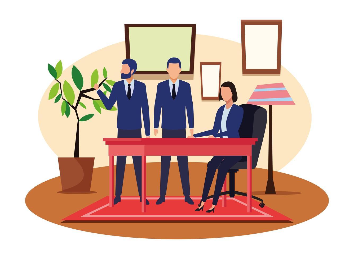 affärsmän som arbetar tillsammans vektor