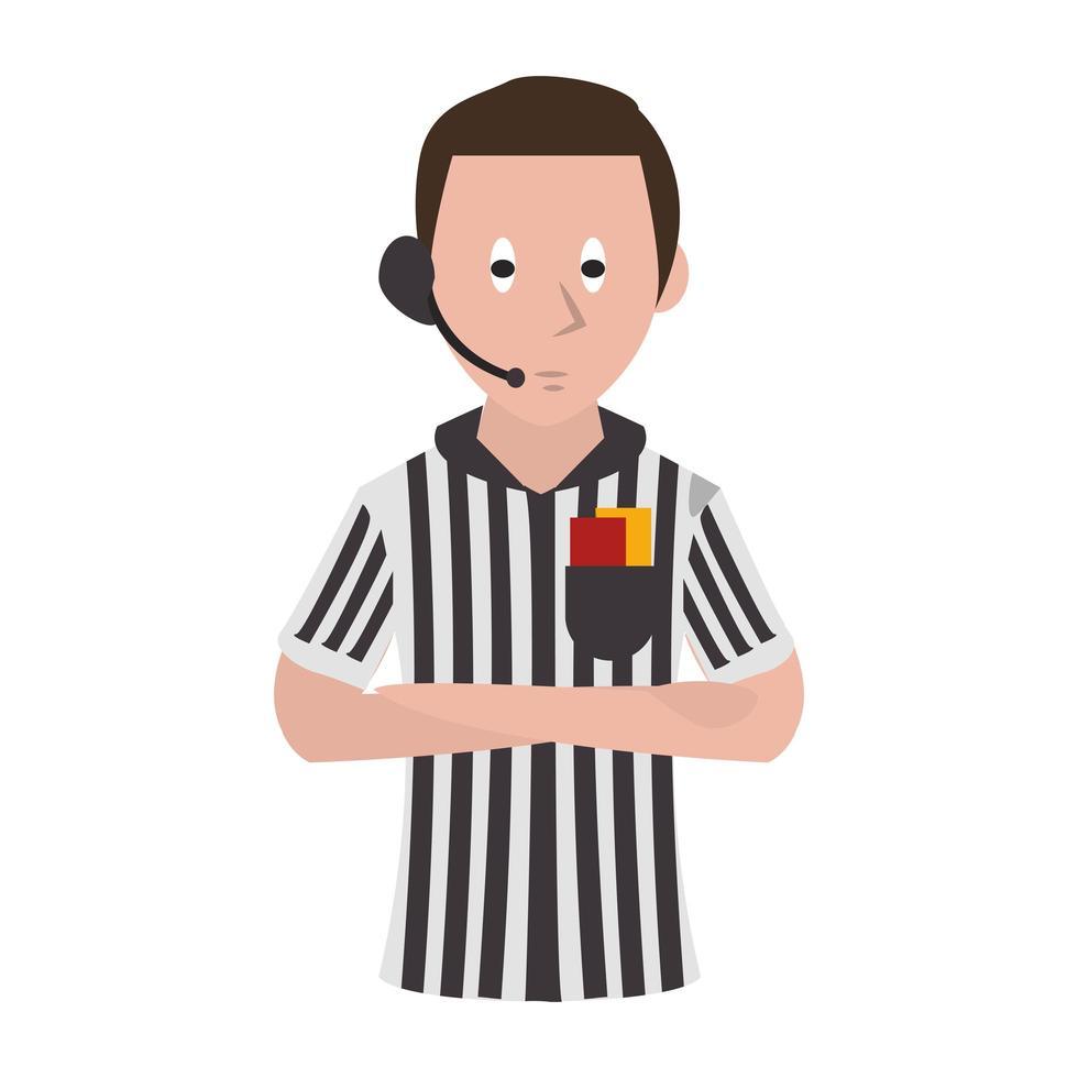 Cartoon Fußball Schiedsrichter vektor