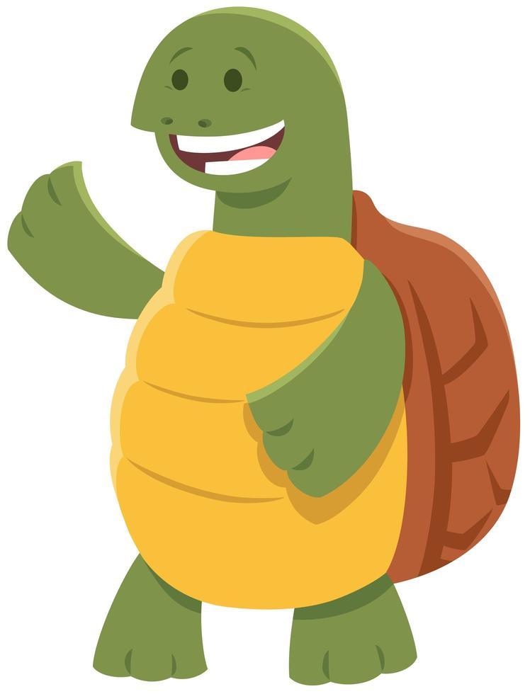 söt sköldpadda eller sköldpadda komiska djur karaktär vektor