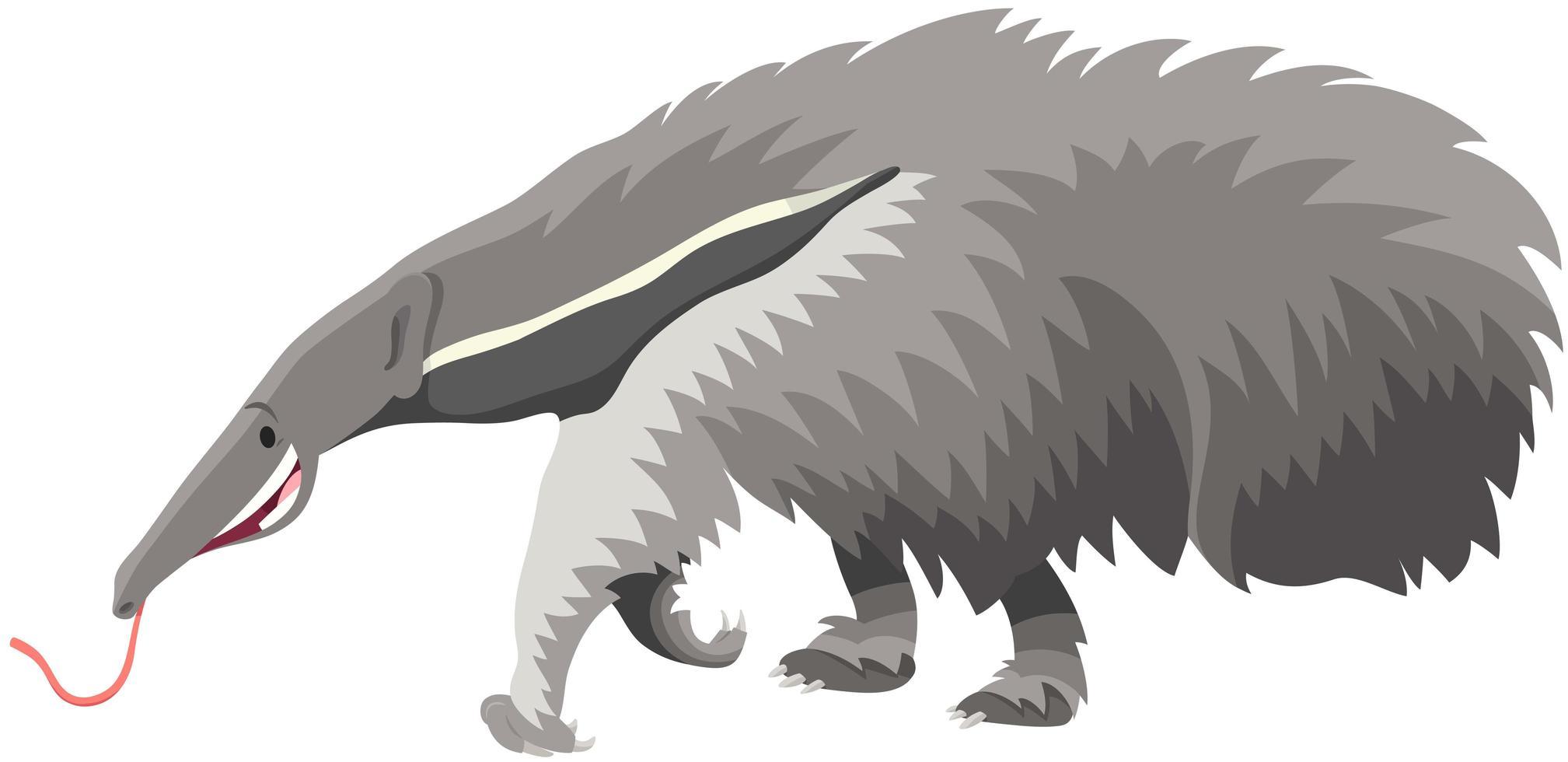 jätte anteater djur tecknad vektor