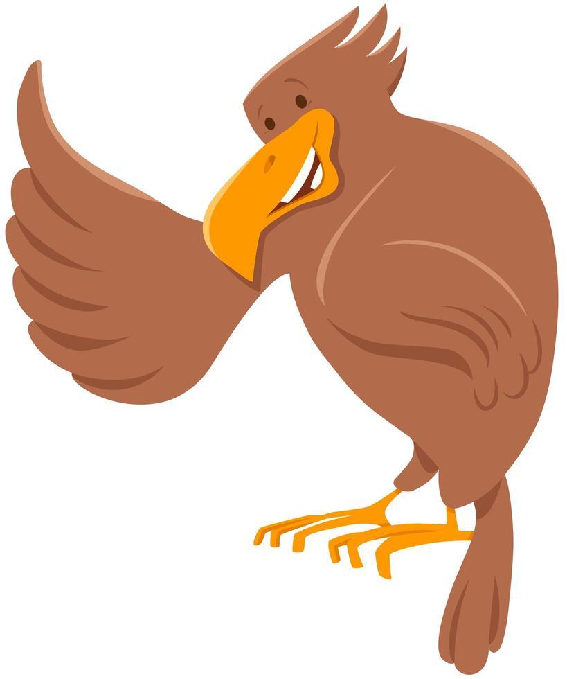 Adler Vogel Tier Zeichentrickfigur vektor