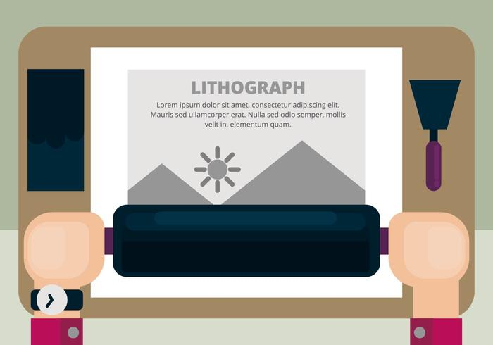 Litografi Illustration vektor