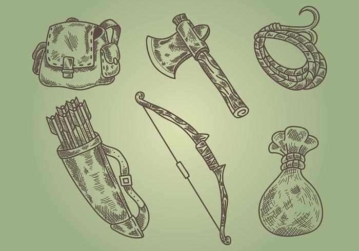 Litograph Hunter Vektor Icons