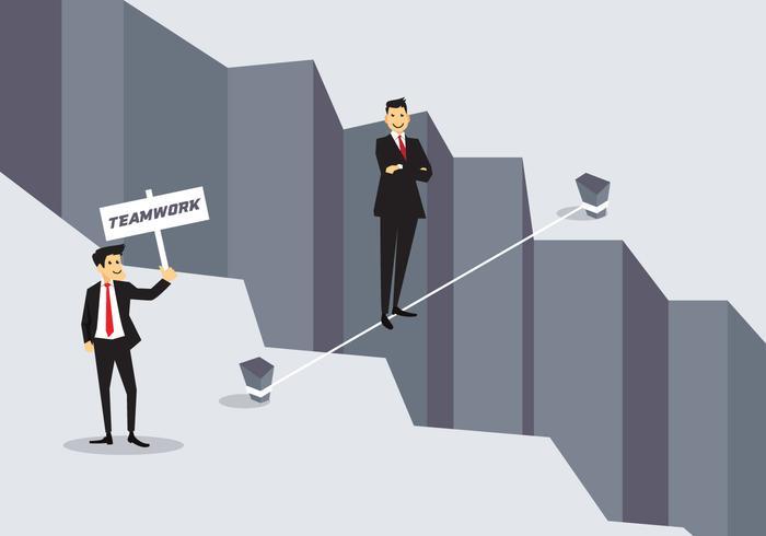Business-Konzept Tightrope Vektor