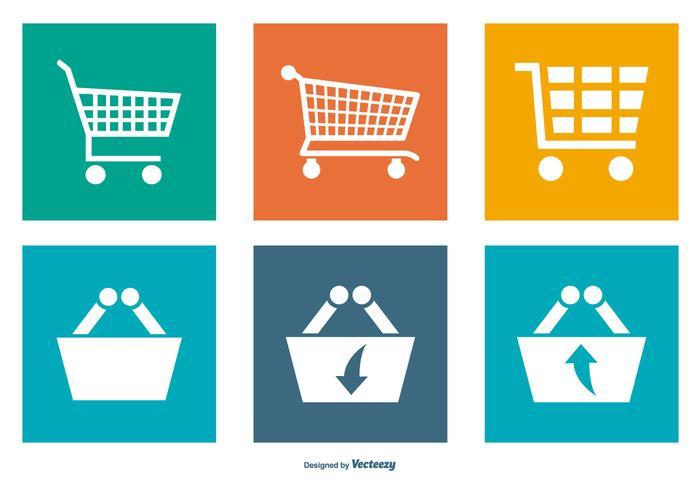 Einkaufen Carts Icon Collection vektor