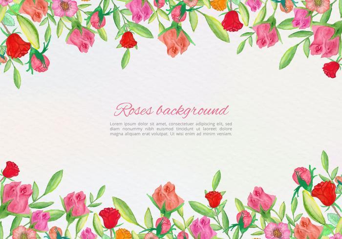 Gratis Vector Hand Rita Floral Card