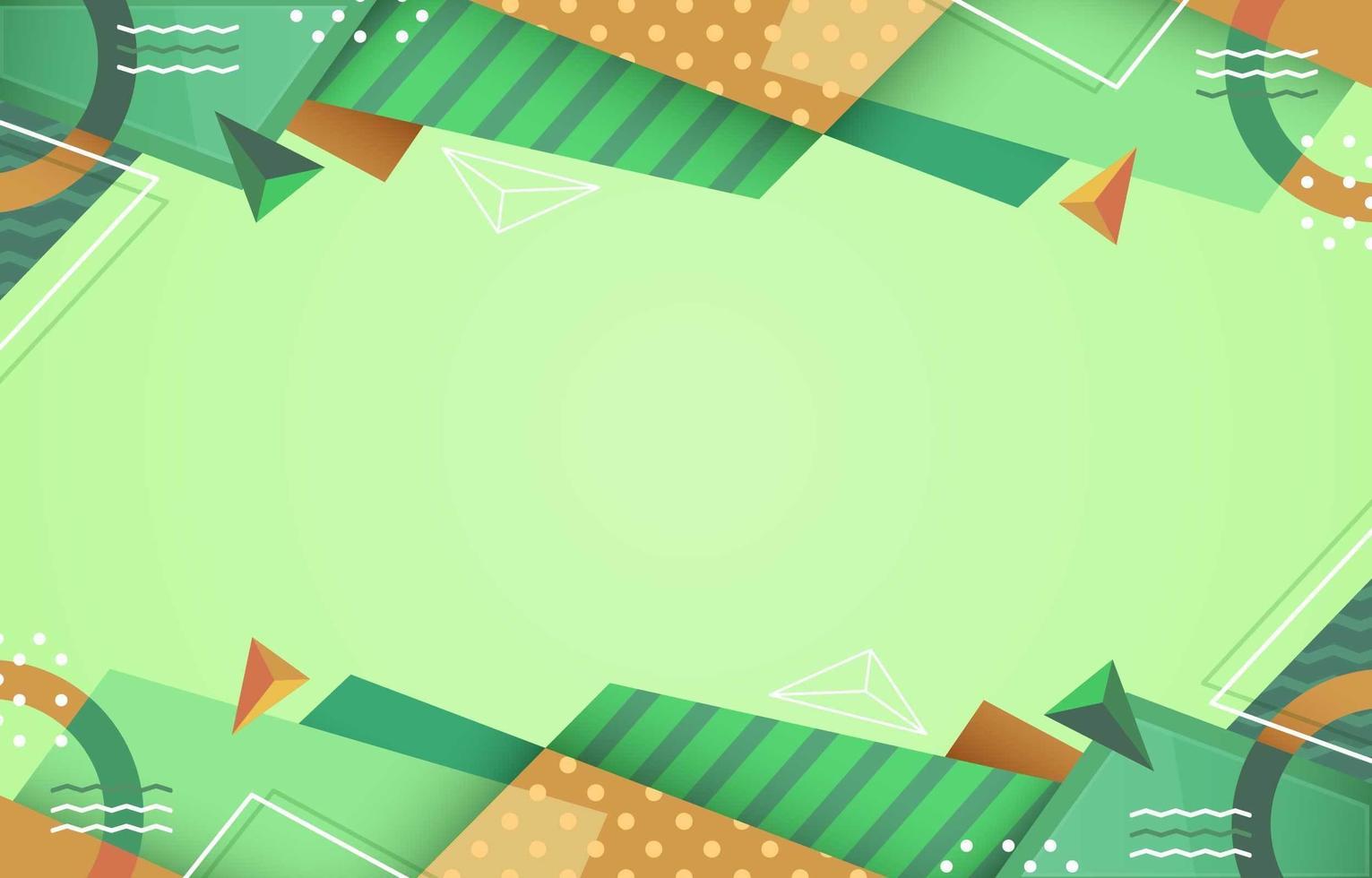 abstrakter grüner geometrischer Hintergrund vektor