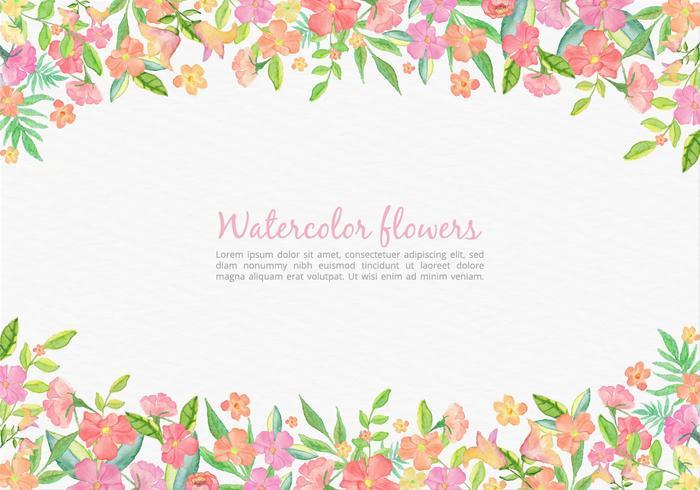 Free Vector Aquarell rosa Blumenkarte für Hochzeit