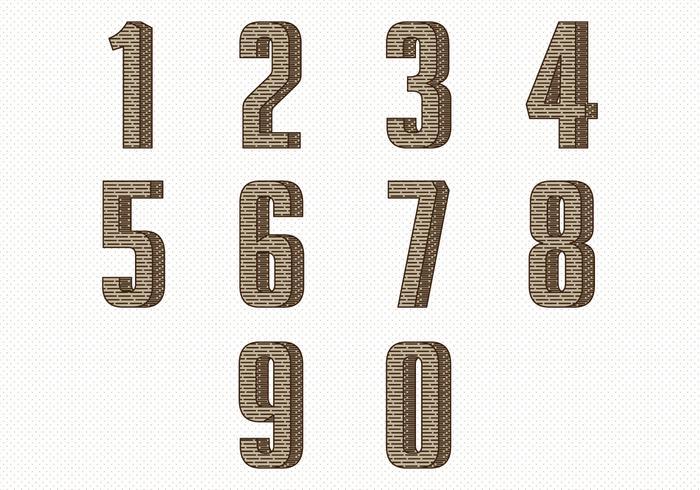 Weinlese-Zahl-Sammlung vektor