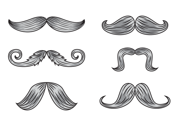 Gravure Schnurrbart Vektoren
