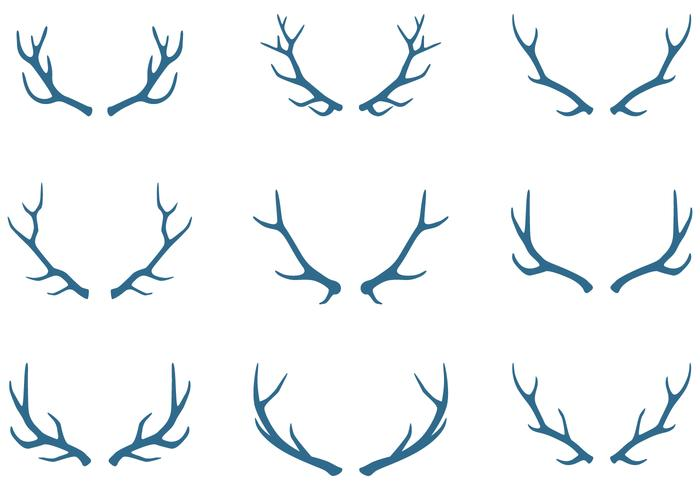 Caribou hornelement vektor