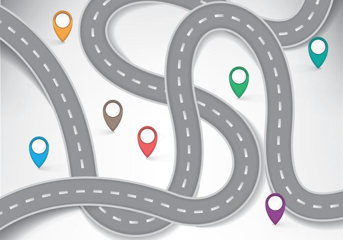 Roadmap Infografisch vektor