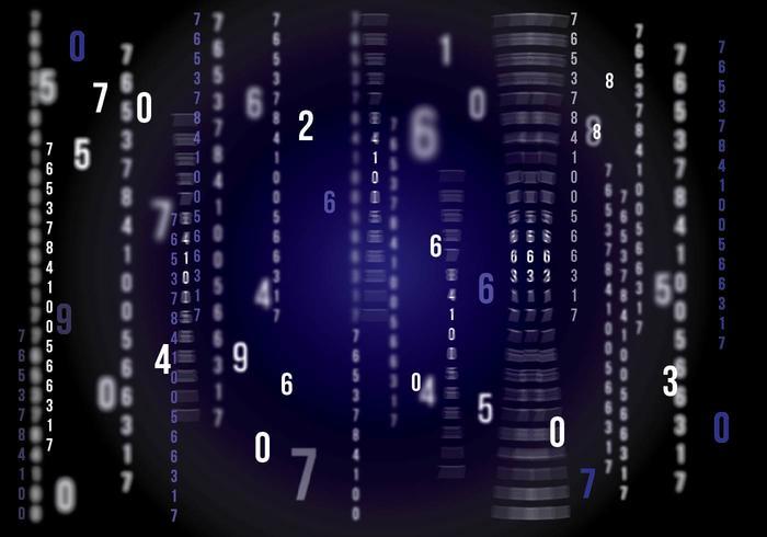 Matrix Vektor Hintergrund Dunkelblau