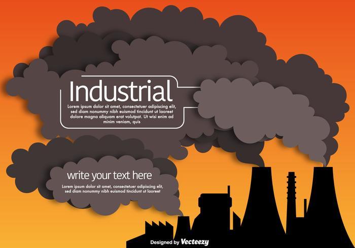Vector Industrial Smokestack Pipes Fabrik Vorlage