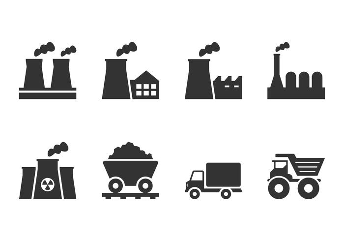 Fabrik Industrie Icon vektor