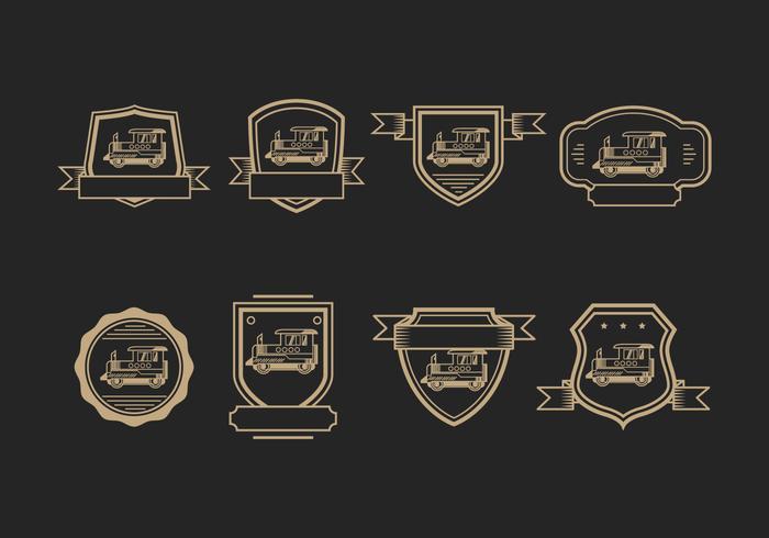 Caboose Abzeichen Logo Vektor
