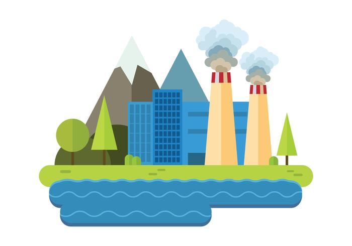 Föroreningsvektor för kraftverk vektor