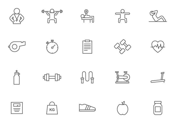 Personlig tränare och fitnessvektorer vektor