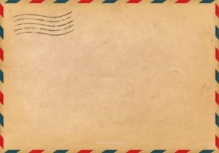 Grunge Luftpost Hintergrund vektor