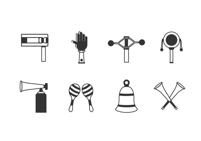 Noise Maker Set Icons vektor