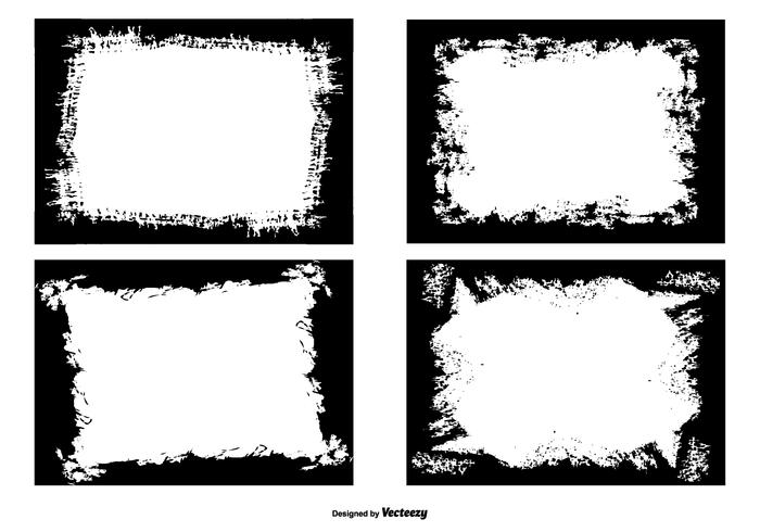 Grunge Foto Kanten Sammlung vektor