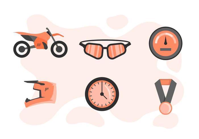 Freie hervorragende Motorcross-Vektoren vektor