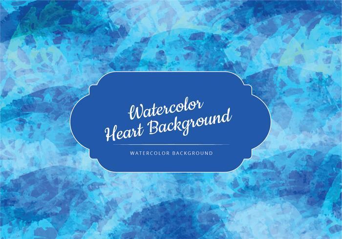 Blå vågor akvarell vektor bakgrund
