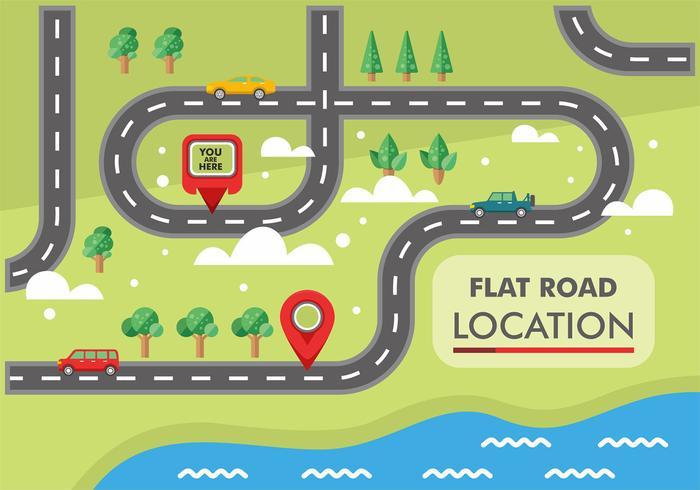 Roadmap-Vektor-Design vektor