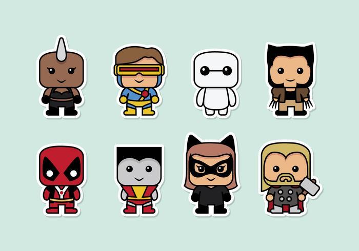 Superhjältar vektor