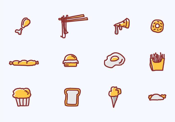 Mat och förrätt vektor