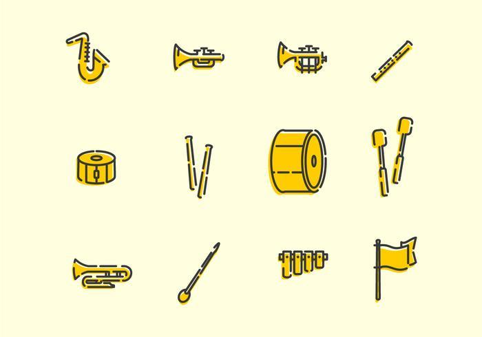 Marching Band Werkzeuge vektor