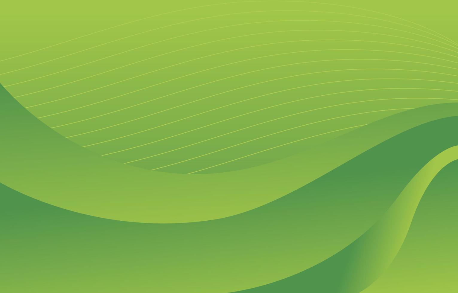 grüner abstrakter Wellenhintergrund vektor