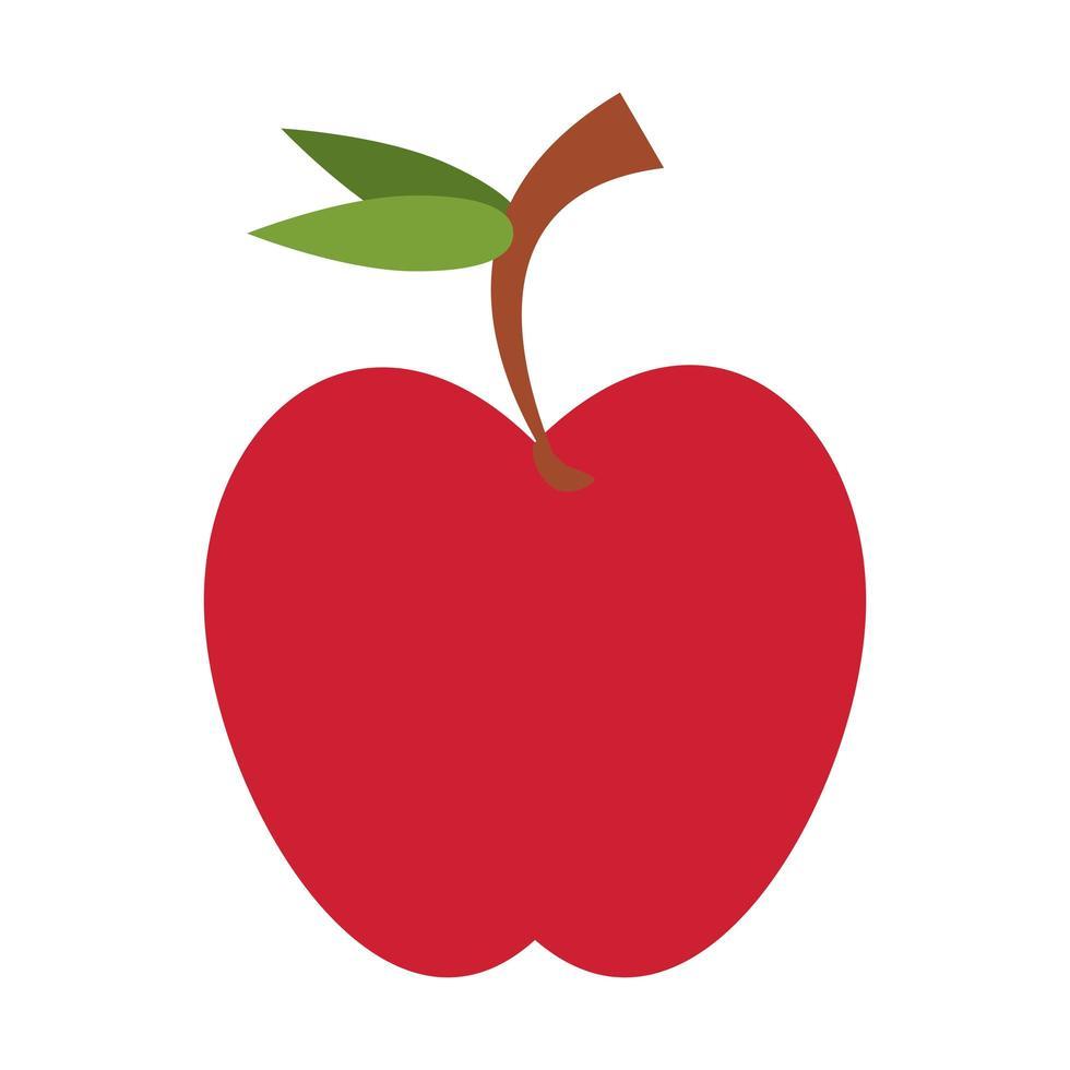 Apfelfruchtnahrung isolierte Ikone vektor