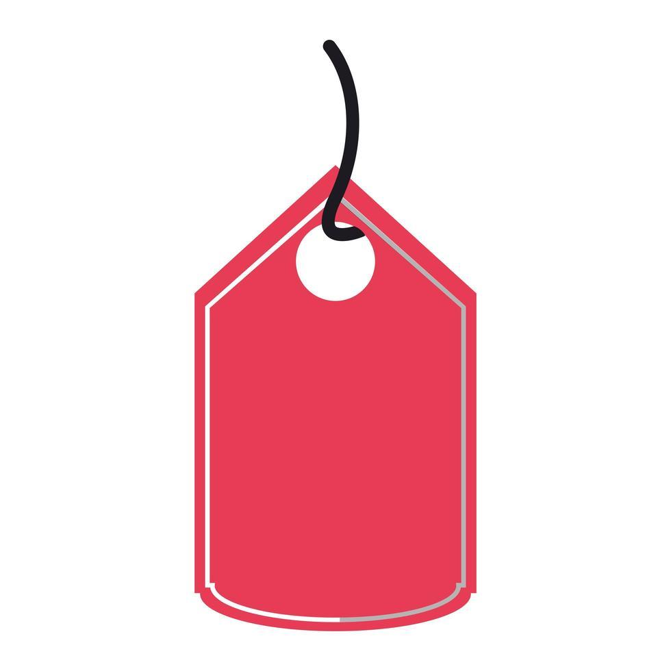 shopping röd tagg isolerad ikon vektor