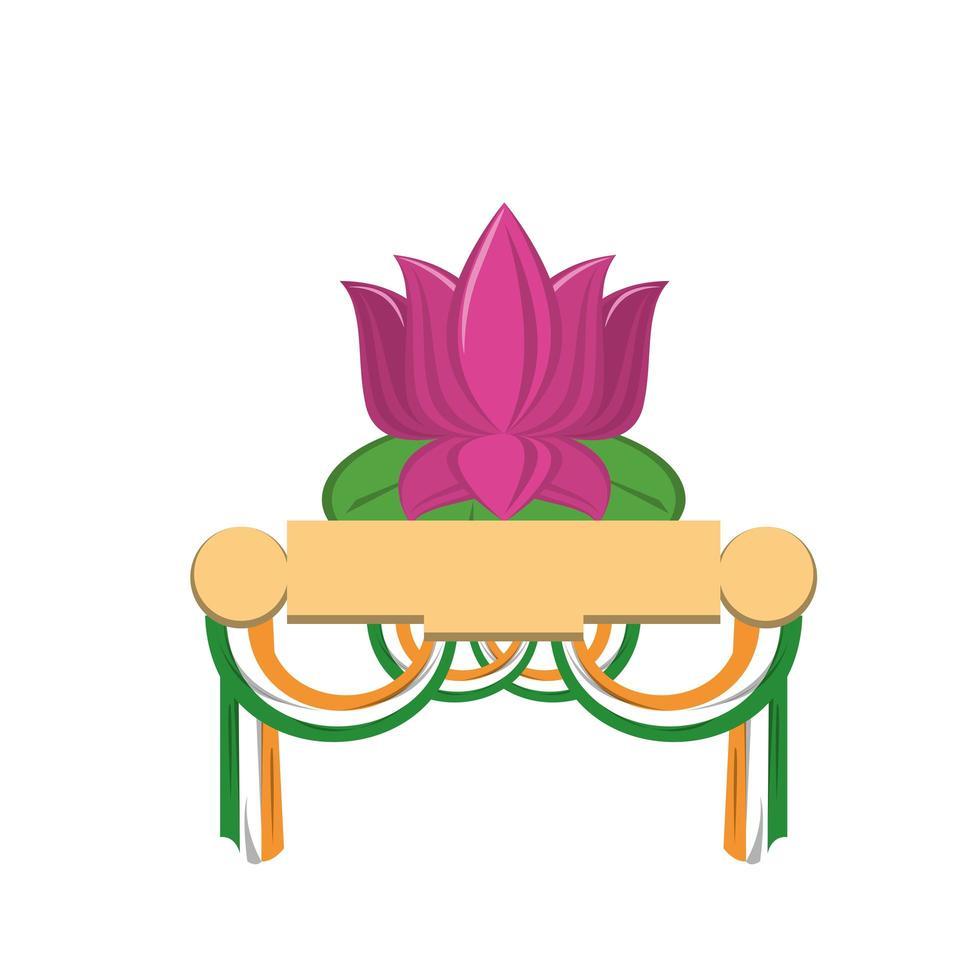 indiska patriotiska emblemer tecknade serier vektor